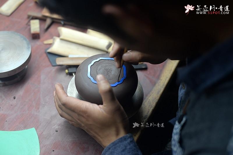 紫砂壶图片:酒虎老师全手工筋纹器太极如意制作过程 美壶分享~ - 美壶