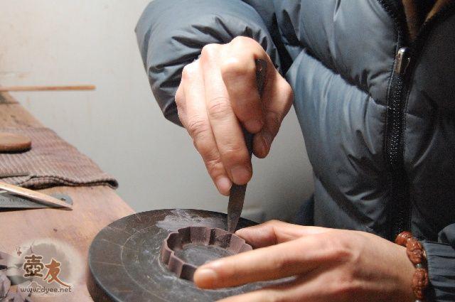 紫砂合菱壶纯手工制作过程内容中的图片8226
